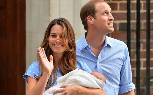 William & Kate With Their New Baby Boy